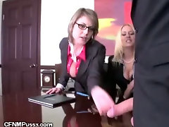 Top Brass Demand Cock In The Boardroom