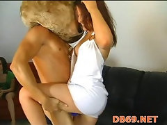 Hot young girls sucking cock