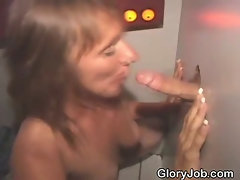 Brunette Sucking Dick And Fucked Through A Glory Hole