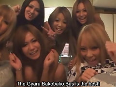 Subtitled tan Japan gyaru group talk about first times