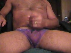 purple panties cum