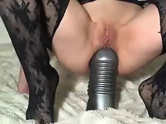 monster dildo in her ass