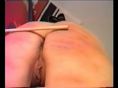 nice MILF caning