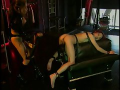 Asian slave teased in BDSM action