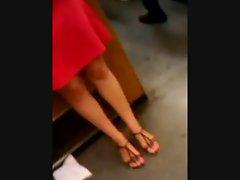 Feet in a metro train IV