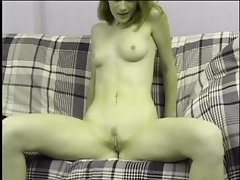 Hot chick in heat using a vibrator