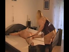 Mistress whips her Slave!BDSM Femdom Domina!