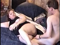 Chubby chaser gets his cock licked and fucked
