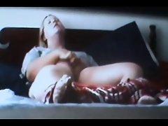 spycam caught blonde rubing clit to orgasm