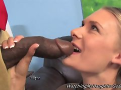 White daughter creampied by BBC in front of dad