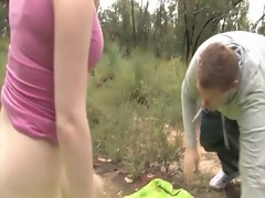Naughty real outdoor couple