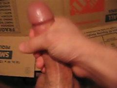 Jerking my throbbing cock