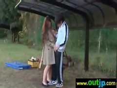 Outdoor Sexy Teen Asian Get Nailed video-19