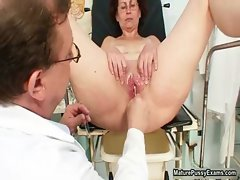 Horny doctor does a close up peek