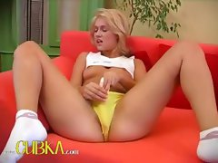 Czech blonde princess sex a dildo
