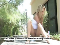 Alanna from ftv babes stunning blonde babe toying pussy pussy outdoors