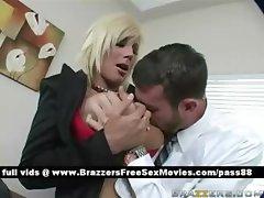 Mature blonde slut at work gets her pussy fingered