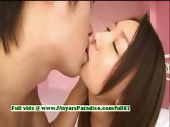 Mai Uzuki innocent cute asian girl gets pussy fingered