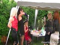 Outdoor orgy with WAM horny sluts