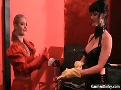 Dirty Carmen in perverse hard-core sandm