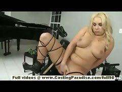 Ashley Reeves amateur sexy blonde teen with big natural tits fingering her pussy