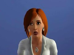 3D animated brunette shops, blows his rod and takes a shower