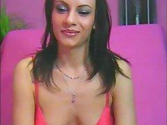 milf brunette in pink lingerie sexatcams