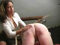 Extreme torture on a male slave performed by a pair of mistresses