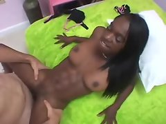 Fit black teen screwed in missionary
