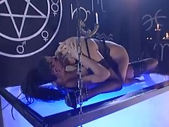 Goth chicks eat pussy and use fun toys in the dungeon