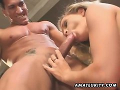 Amateur girlfriend homemade anal double penetration with creampie cumshot