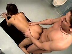 Young Jenna Haze fucked in the bathroom