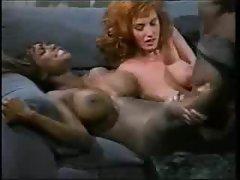 Redhead and black chick pleasure his BBC