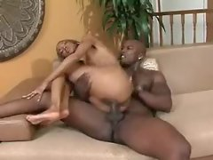 Skinny black hottie fucked in her tight pussy
