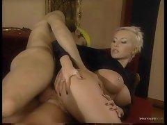 Pierced pussy blonde fucked hard