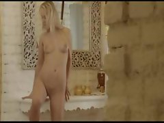 Blonde babe Carla undressing snatch
