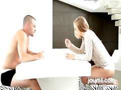 Teen Alyssa Branch Fucks On Kitchen Table