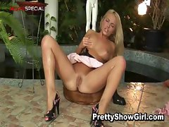 Hot Blond slutty babe working on a huge part4
