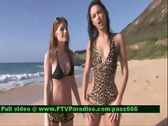 Inventive Sexy Hot Lesbians On Beach