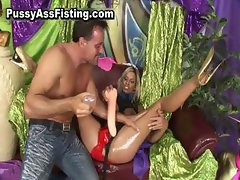 Filthy whore ass riding dick and gets part4