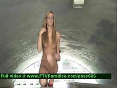Ingenious Awesome Blonde Woman Posing Naked