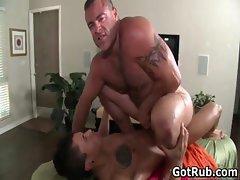 Fine man gets superb gay rub 9 by GotRub part3