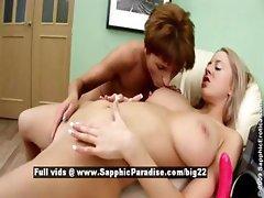 Remi and Mandi stunning lesbian girls toying