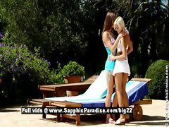 Mya and Lila stunning lovely lesbians undressing