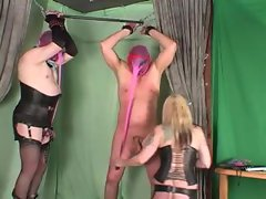 Mistress has two guys bound to play with them