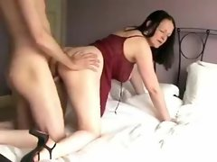 Cute GF in lingerie wants a creampie from behind