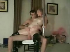 Perfect body amateur in latex boots has sex