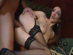 Anal ravaging for elegant chick in stockings