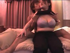Sexy Asian tits in the bedroom look fantastic