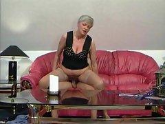 Granny slut filled with young dick